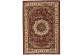 Stunning Formal Medallion Design Rug Red 330x240cm