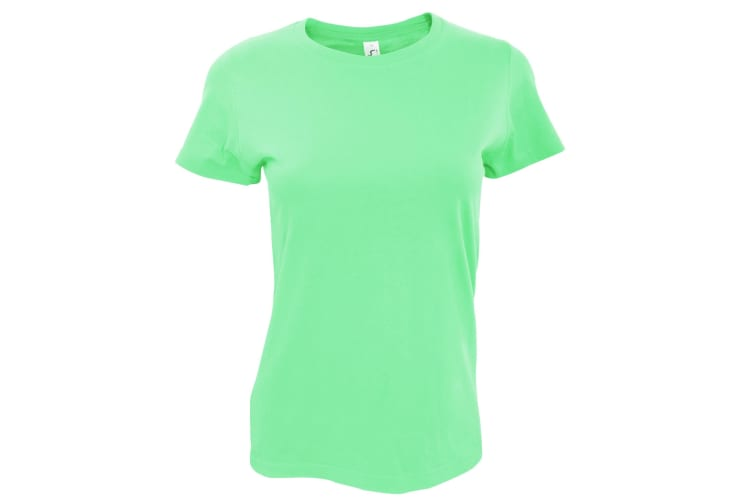 SOLS Womens/Ladies Imperial Heavy Short Sleeve T-Shirt (Apple Green) (XL)