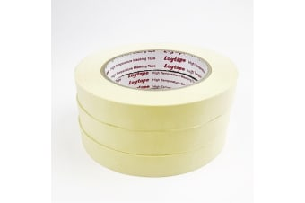 3x Loytape High Temperature Masking Tape Roll 18mm x 50m Automotive Painting