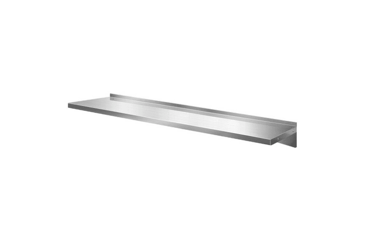 Stainless Steel Wall Shelf Kitchen Shelves Rack Mounted Display Shelving 1800mm