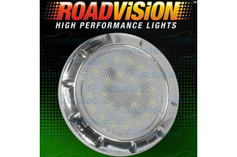 ROADVISION LED RECESSED INTERIOR DOME LIGHT LAMP ROOF CABIN CARAVAN CHROME IL70C