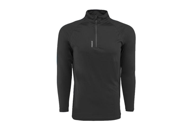 Reebok Men's Play Dry 1/4 Zip Jacket (Black, Size XL)