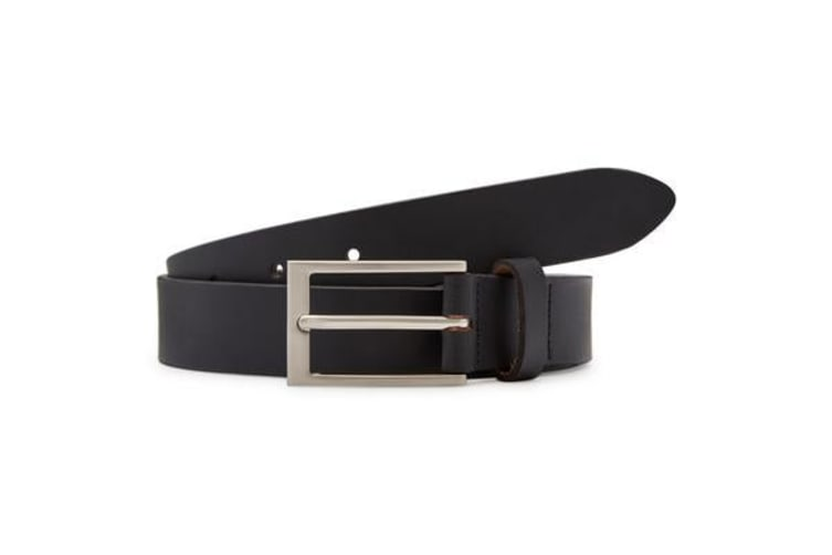 Hard Yakka Genuine Leather Contemp Belt (Black , Size 2XS)