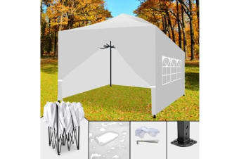 3x4.5m Pop Up Folding Gazebo Marquee WHITE