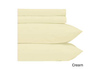 Microfiber Sheet Set Cream Single