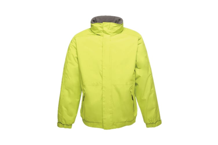 Regatta Dover Waterproof Windproof Jacket (Thermo-Guard Insulation) (Key Lime/Seal Grey) (XL)