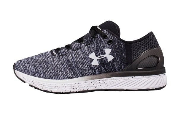 Under Armour Women's Charged Bandit 3 Running Shoe (Black/White, Size 6.5)
