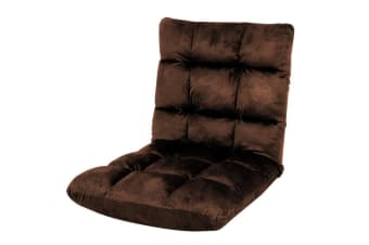 Adjustable Cushioned Floor Gaming Lounge Chair 100 x 50 x 12cm - Brown
