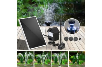 30W Solar Powered Water Fountain Pond Pump Battery Submersible