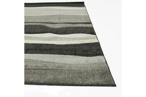 Stunning Thick Wave Rug Charcoal 170x120cm