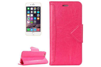 For iPhone 6S 6 Wallet Case  Top-Quality Premium Leather Cover Magenta