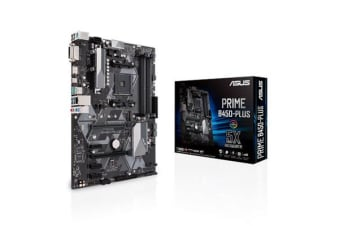 ASUS PRIME B450-PLUS ATX For AMD Ryzen Socket AM4. AMD B450 Chipset 4X DDR4-3200