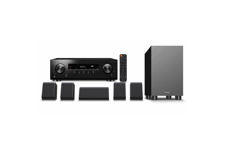 Pioneer 5.1 AV Receiver and Speaker Package 135W P/ Channel HDMI/Bluetooth/Dolby