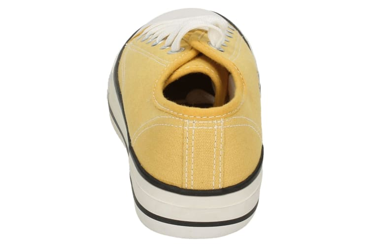 Spot On Womens/Ladies Low Cut Canvas Lace Up Shoes (Yellow) (4 UK)
