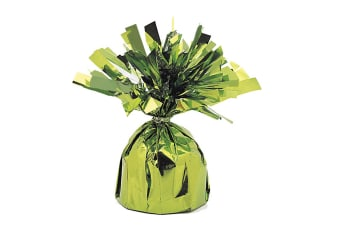 Unique Party Foil Tassels Balloon Weights (Pack Of 6) (Lime Green)