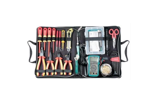 ProsKit 1000V VDE Insulated Tool Kit 20Pcs in 1 With Battery Operated Soldering Iron (SI-B161)  / 2