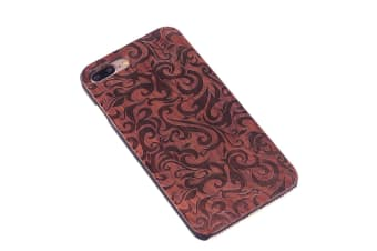 For iPhone 8 PLUS 7 PLUS Case Rosewood Pennywort Wooden Durable Protective Cover