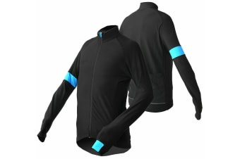 Jackbroad Premium Quality Bike Long Sleeves Jersey Blue 2XL