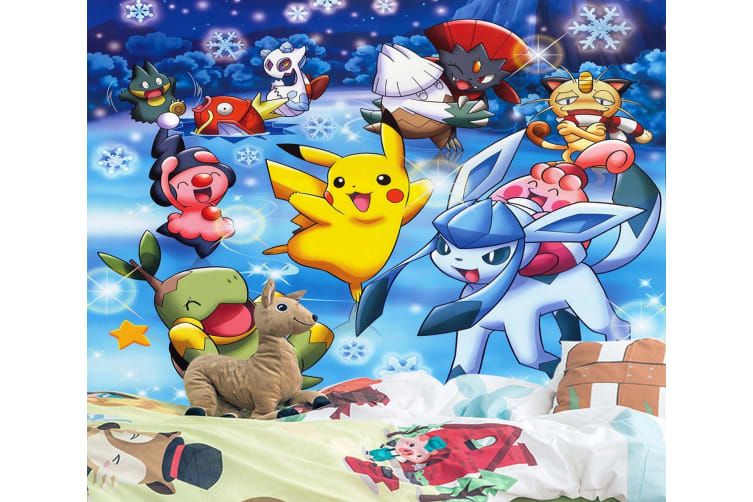 3D Pikachu And Friends 55 Anime Wall Murals Self-adhesive Vinyl, XXL 312cm x 219cm (WxH)(123''x87'')