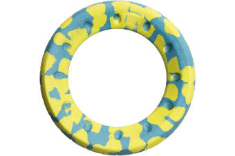 Foaber Roll Ring Dog Toy (Green/Blue) (One Size)
