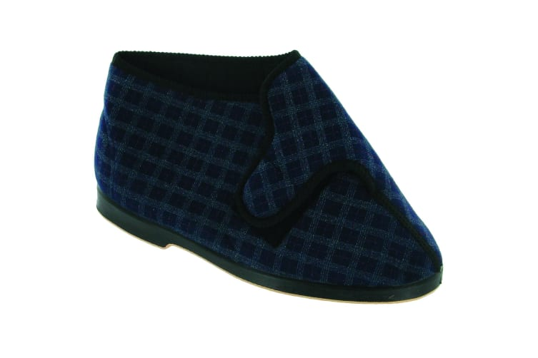 GBS Keswick Touch Fastening Bootee / Mens Slippers / Mens Bootee (Blue) (7 UK)