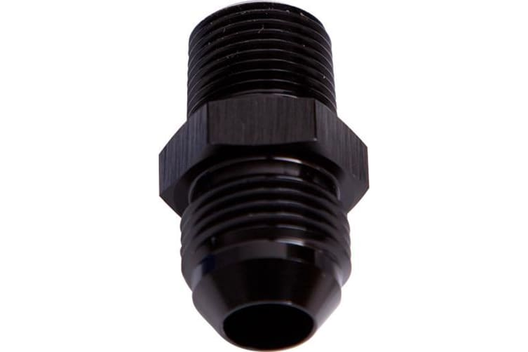 "Aeroflow Male Flare -4AN To 1/8"" NPT Black Male Flare To NPT Adapte"