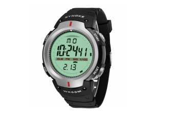 Electronic Watch Sports Waterproof Multifunctional Watch For Men Grey