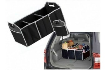 2x Collapsible Car Boot Organiser Cooler Bag Trunk Storage Bag Folding
