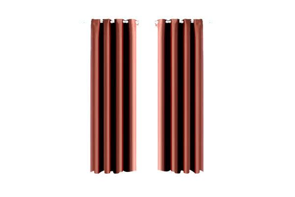 1 Panel Blockout Curtains Panels Chocolate 240x230cm