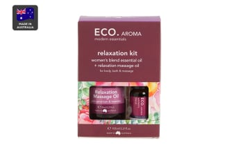 ECO. Body & Aroma Duo Kit with Relaxation Massage Oil & Women's Blend Essential Oil