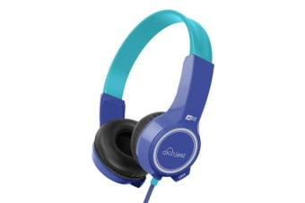 Mee Audio KidJamz Education On-Ear Headphones - Blue - Durable