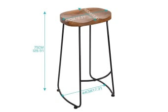 Levede 5pc Industrial Pub Table Bar Stools Wood Chair Set Home Kitchen Furniture  -  L