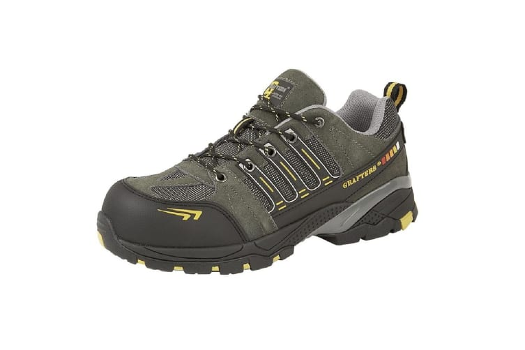Grafters Mens Superlight Non-Metal Toe Capped Safety Trainers (Grey/Yellow) (3 UK)