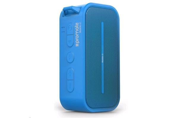 PROMATE 6W Rugged IPX5 Water-Resistant Bluetooth 4.0 Speaker Colour Blue