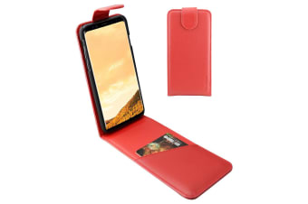 For Samsung Galaxy S8 Case iCoverLover Vertical Flip Genuine Leather Cover Red