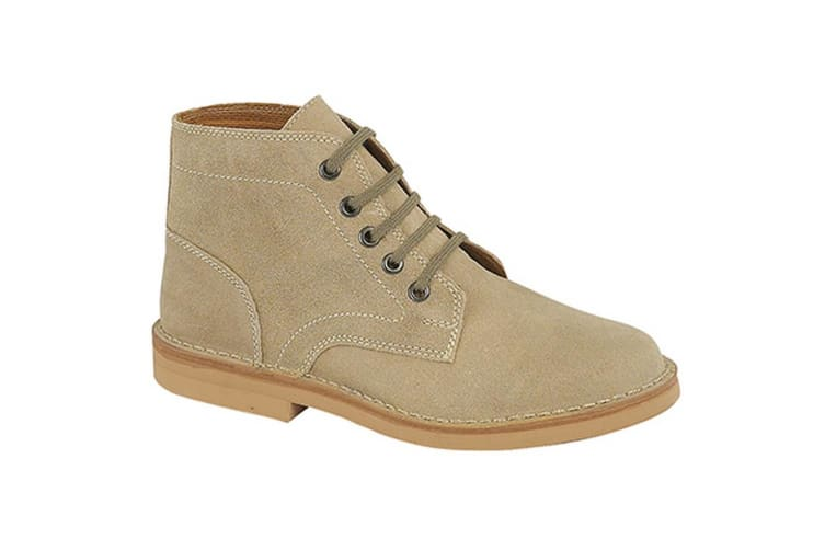 Roamers Mens Real Suede Leisure Boots (Dark Taupe) (6 UK)