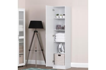 Storage Cabinet Organiser Single Door Tall Shelf Cupboard Display 180cm Tall
