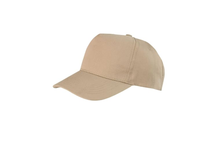 Result Unisex Core Boston 5 Panel Printers Baseball Cap (Khaki) (One Size)