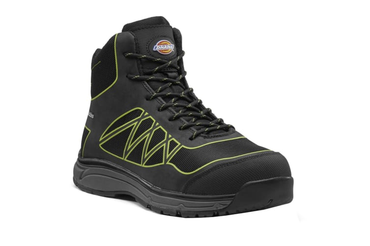 Dickies Mens Phoenix Safety Boot (Black/Lime Green) (13 UK)