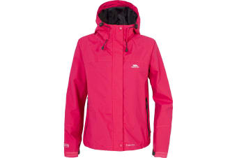 Trespass Womens/Ladies Miyake Hooded Waterproof Jacket (Cerise) (XXS)