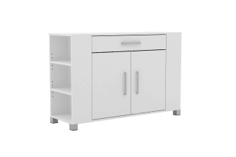 Buffet with Drawer & Cupboard - Storage Cabinet Shelf Table White Kitchen