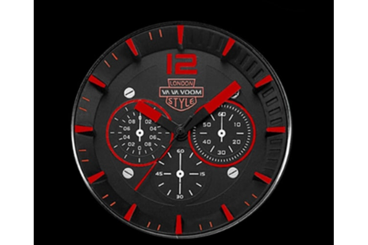 WJS Fashion Sports and Leisure Outdoor Watch Large Watch Breathable Strap Quartz Watch Suitable for Men-Red