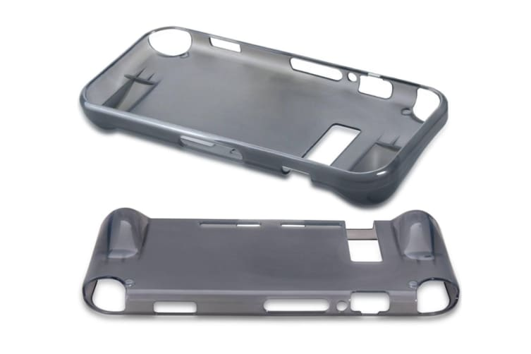 Tpu Cover Case For Nintendo Switch, Come With Glass Screen Protector Silver Grey
