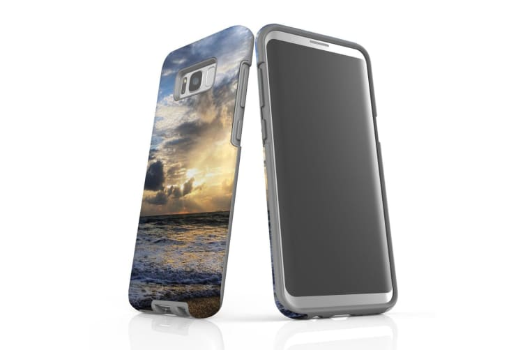 For Samsung Galaxy S8+ Plus Case Armour Cover  Wavy Sunset