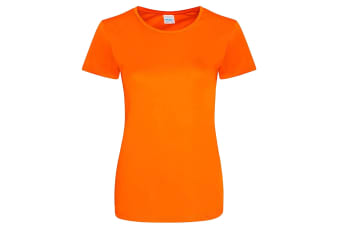 AWDis Just Cool Womens/Ladies Girlie Smooth T-Shirt (Electric Orange)