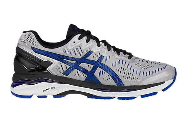 ASICS Men's Gel-Kayano 23 (Silver/Imperial/Black, Size 8)