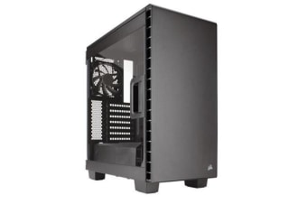 Corsair 400C Mid-Tower ATX Case with Side Window No ODD Slot. Supports Mini-ITX, MicroATX, ATX, E-ATX