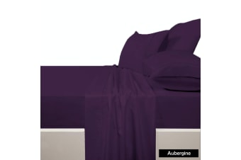 225 TC Polyester Cotton Sheet Set AUBERGINE - King