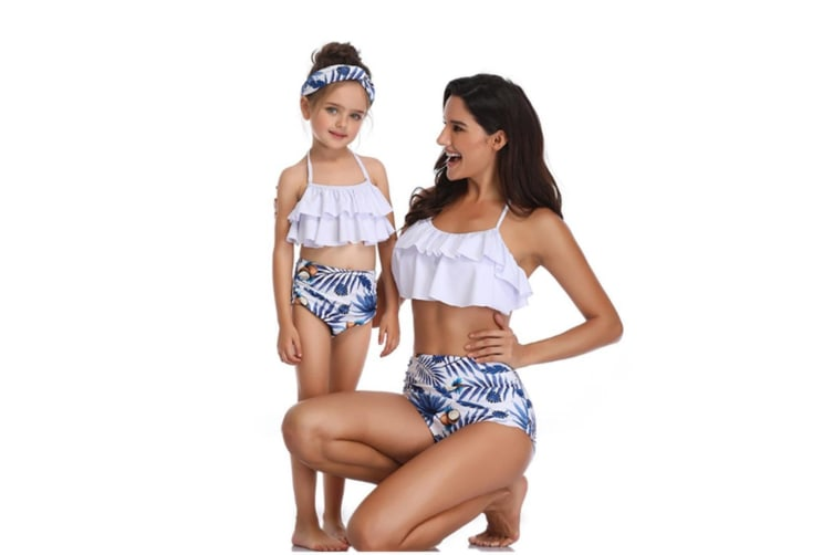 High Waisted Bathing Suit Mommy And Daughter Swimwear Bikini Sets - 1 Xl