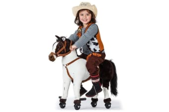 ROVO KIDS Premium Ride-On Pony on Wheels Cycle - Horse Toy Sounds Rocking Cute